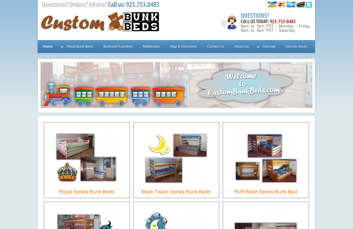 Furniture and Custom Furniture Website Design