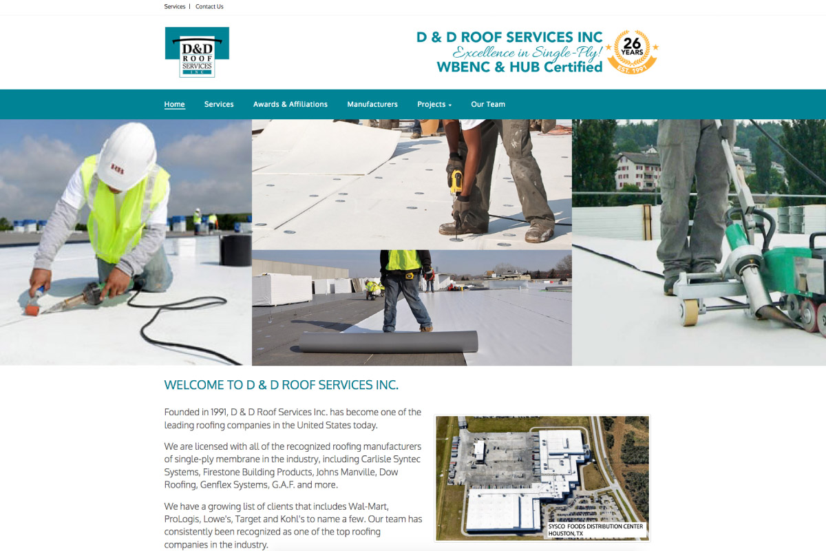 D & D Roof Services - New Caney, TX - Website by WebPlexx