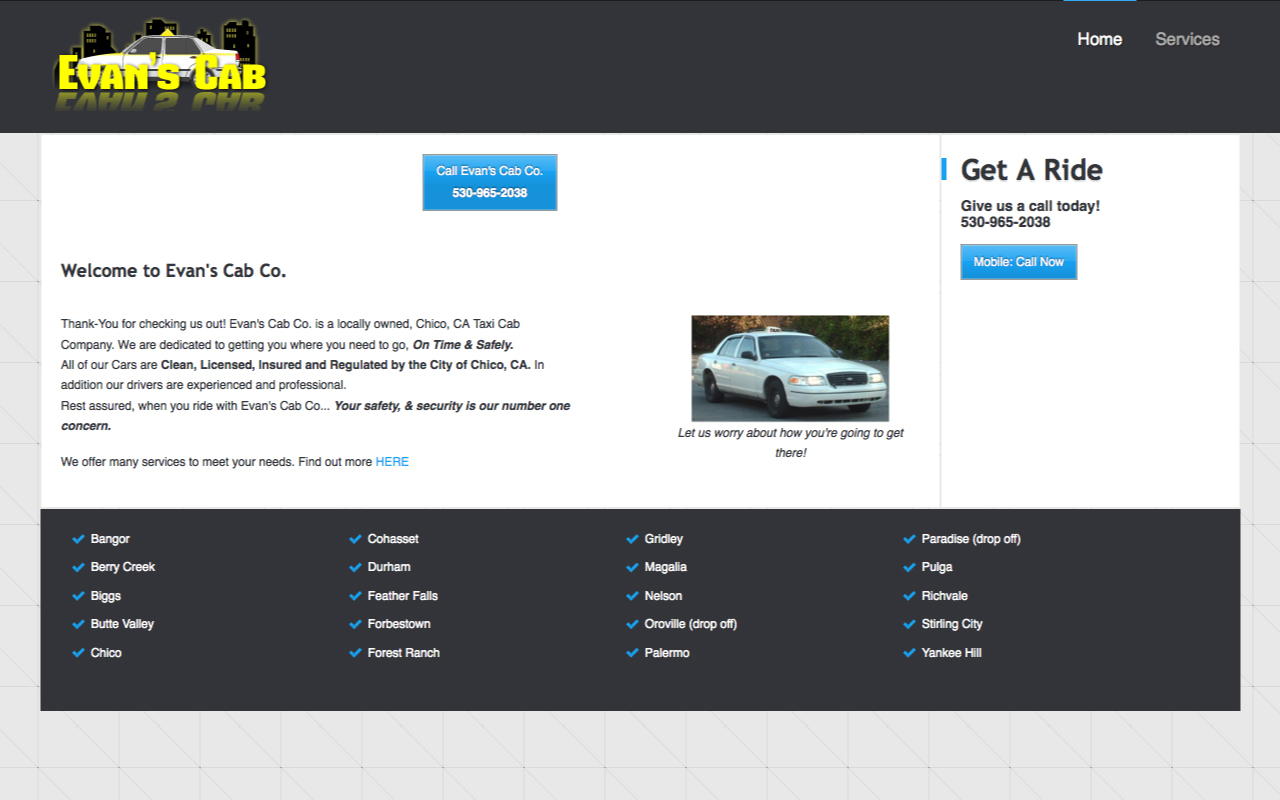 Taxi Cab Website