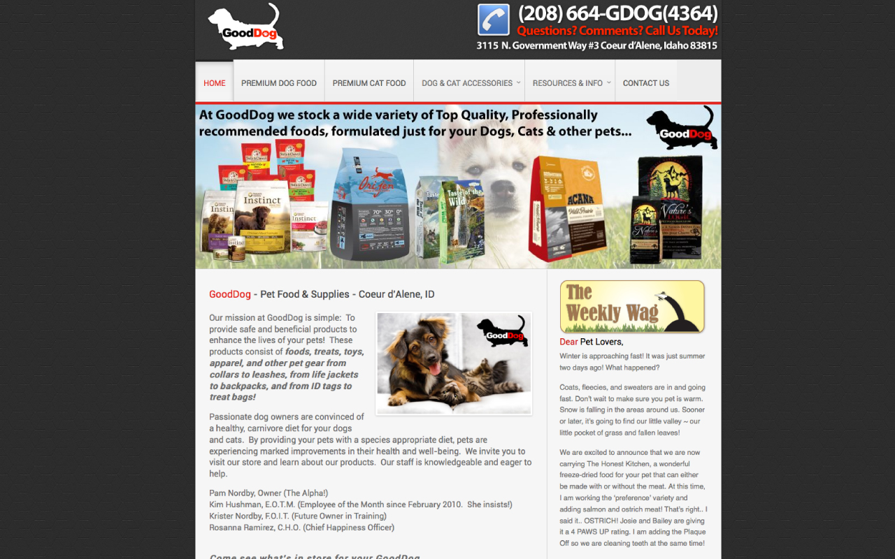 Pet Supply Store Website