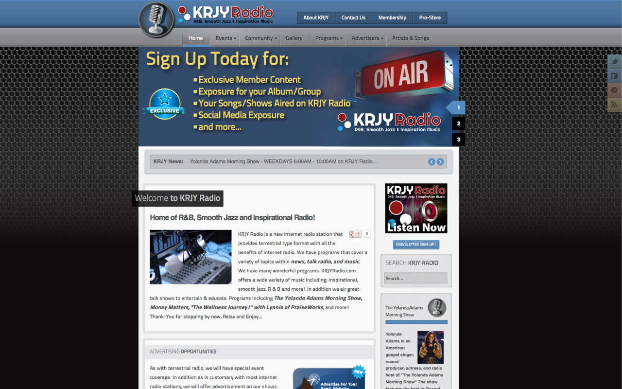 Online Radio Station Website