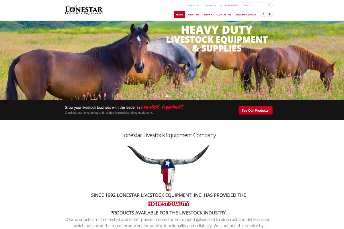 Lonestar Livestock Equipment - Designed by WebPlexx