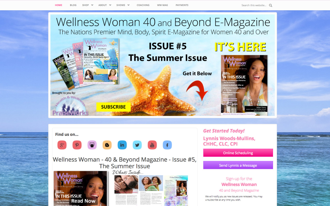 Health and Wellness Website