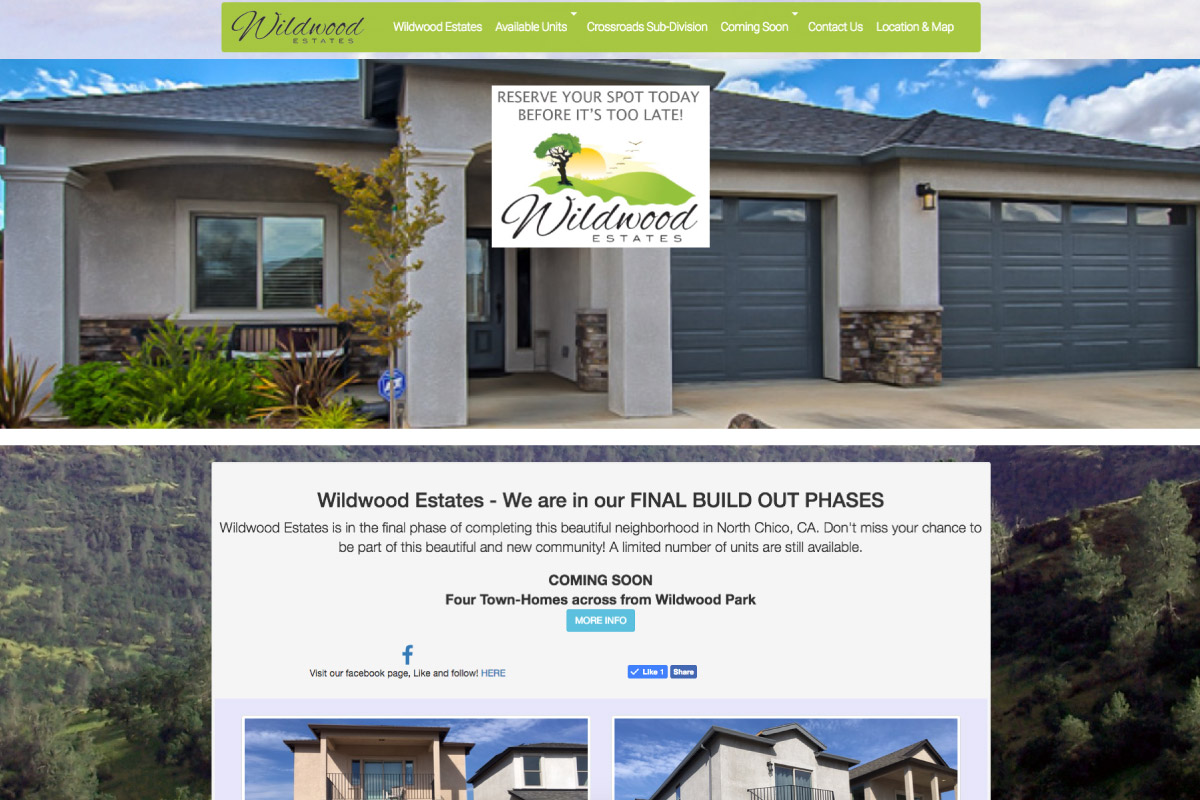 Wildwood Estates in Chico, CA - Website by WebPlexx
