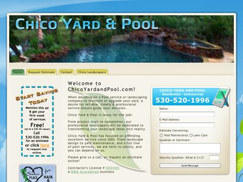 Gardener and Yard and Pool Website Design