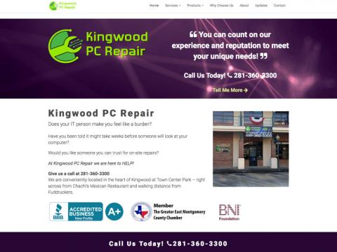 Computer Repair Shop Website