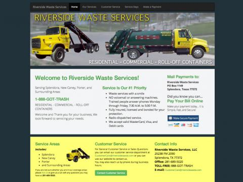 Waste Collection Company Website with Online Payments